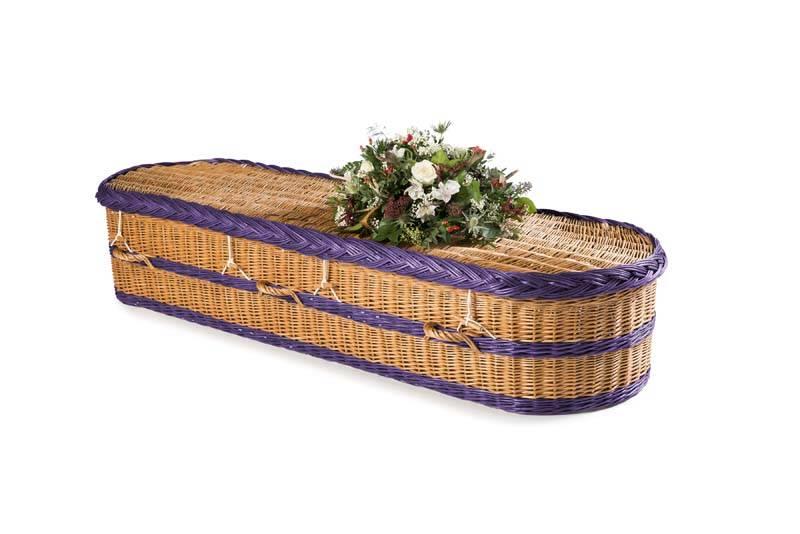 purple eco coffin