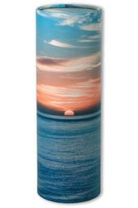Ocean Sunset ashes scatter tube