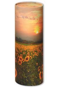 Sunflower ashes scatter tube